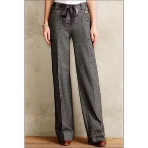 Anthropologie Elevenses Herringbone trousers